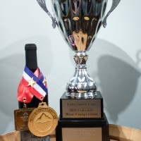 Syrah with metals and 2015 Governors Cup trophy