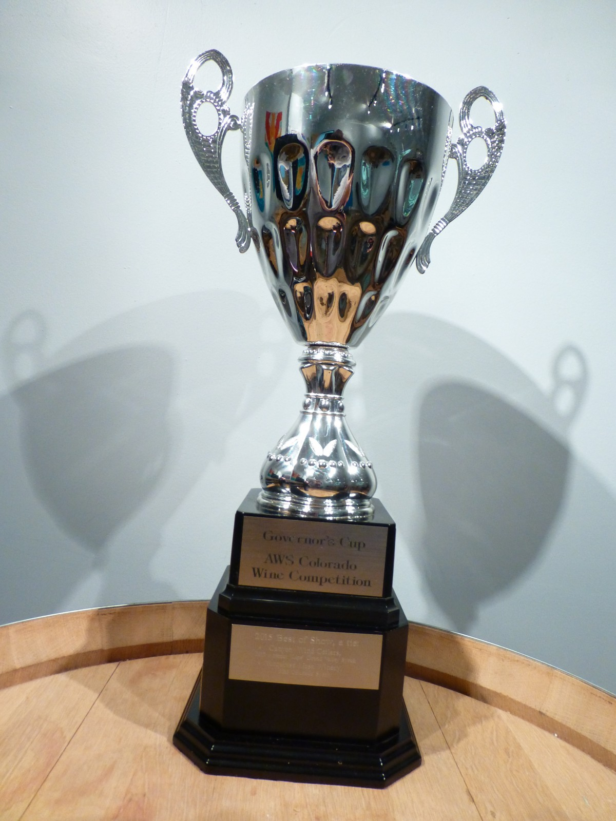 Governors Cup trophy – Turquoise Mesa Winery