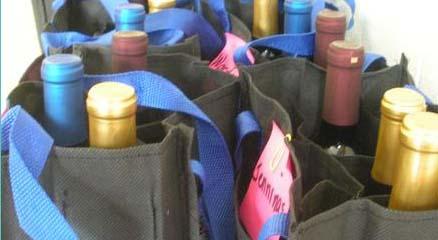 Wine club wine bags